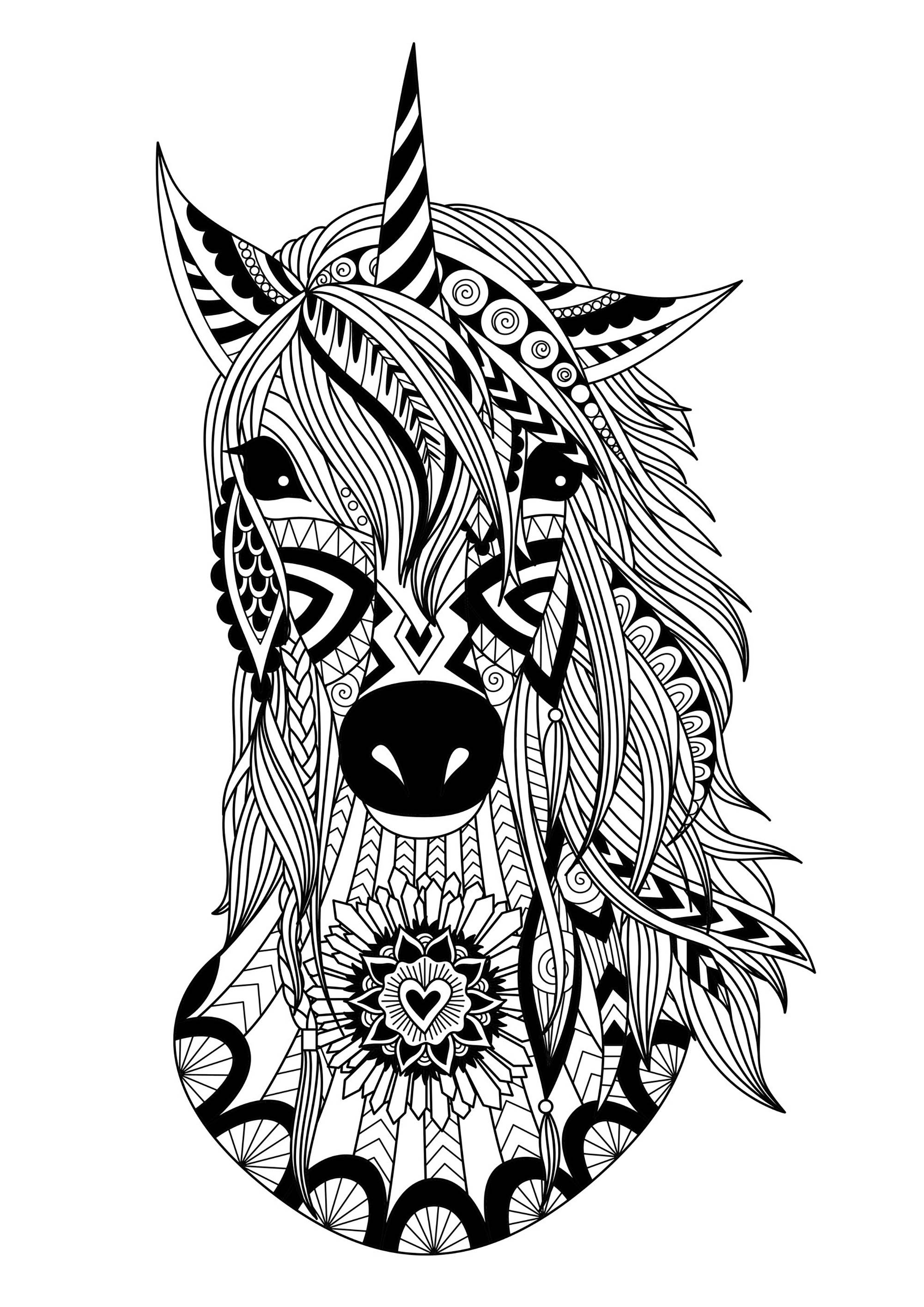 coloring unicorn kids drawing unicorn zentangle simple unicorns adult coloring pages unicorn drawing coloring kids
