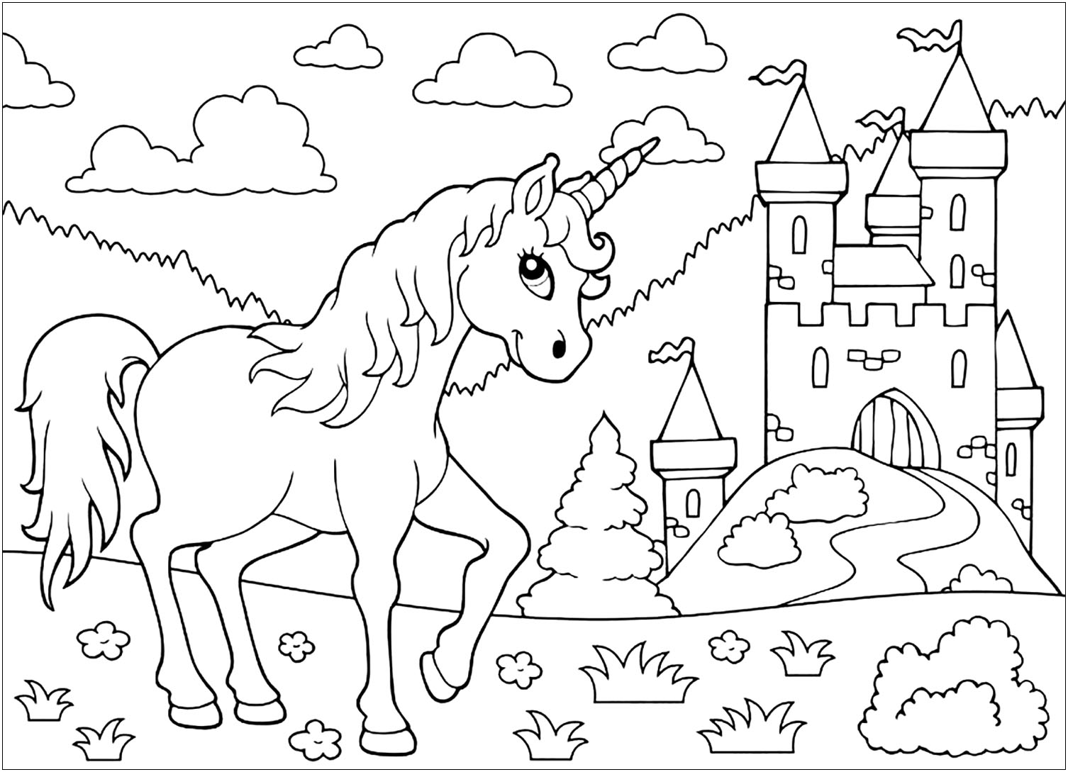 coloring unicorn kids drawing unicorns free to color for kids unicorns kids coloring pages kids coloring unicorn drawing