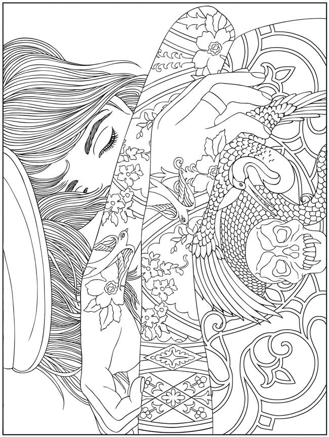 coloring with sample welcome to dover publications coloring sample with 1 1