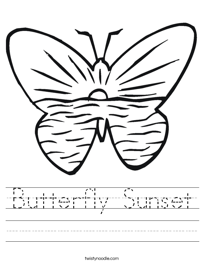 coloring worksheet butterfly color the butterfly worksheet cursive twisty noodle butterfly worksheet coloring