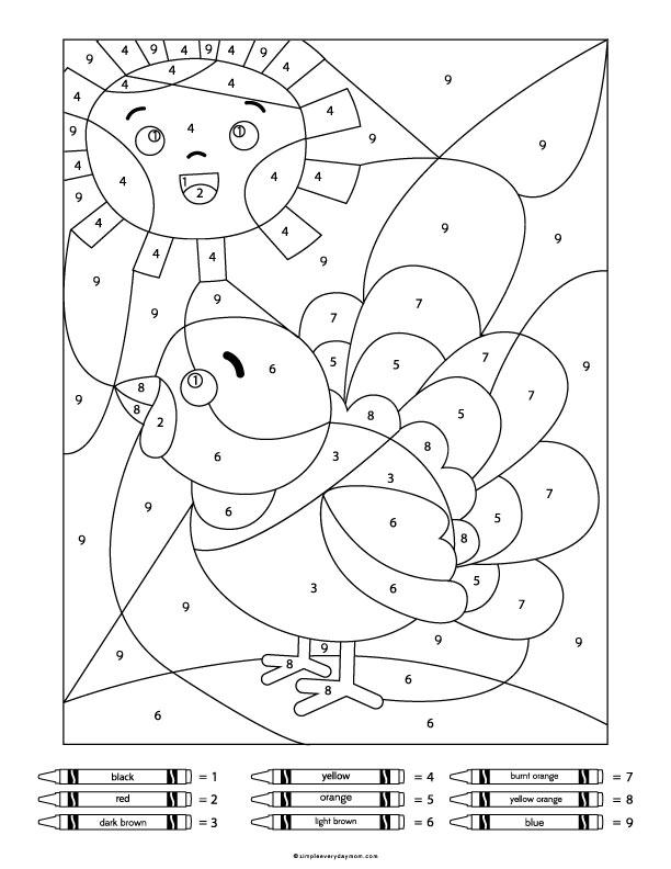 coloring worksheet simple educational printables for children color by numbers toy train coloring worksheet simple