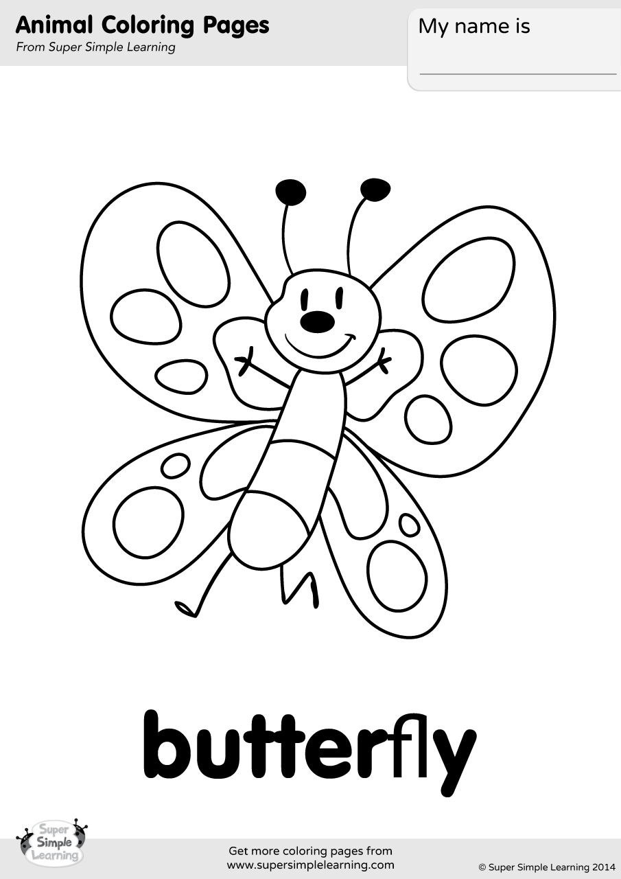 coloring worksheets butterfly butterfly coloring page super simple butterfly coloring worksheets