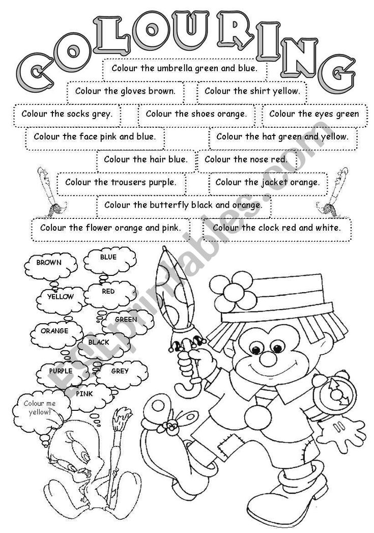 coloring worksheets with instructions 1000 images about english for children on pinterest coloring with worksheets instructions