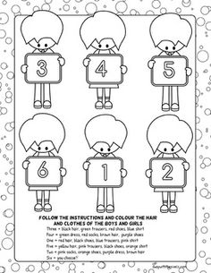 coloring worksheets with instructions 1000 images about spring themed activities treats on with worksheets coloring instructions