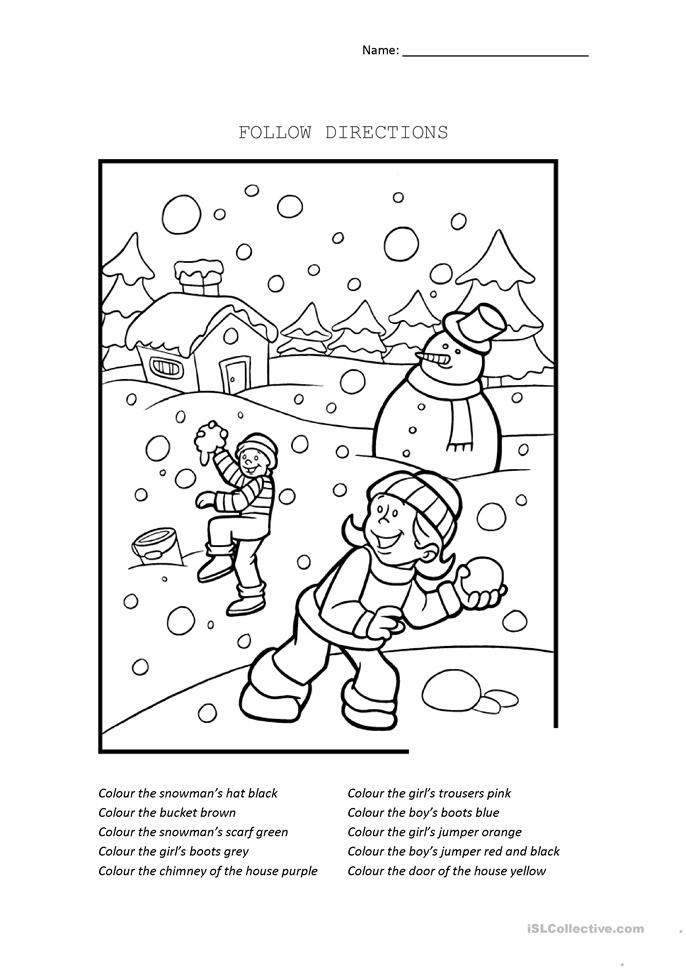 coloring worksheets with instructions color by listening a following directions activity by with worksheets coloring instructions