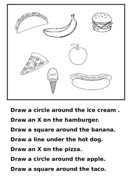 coloring worksheets with instructions following directions worksheet free kindergarten worksheets instructions with coloring