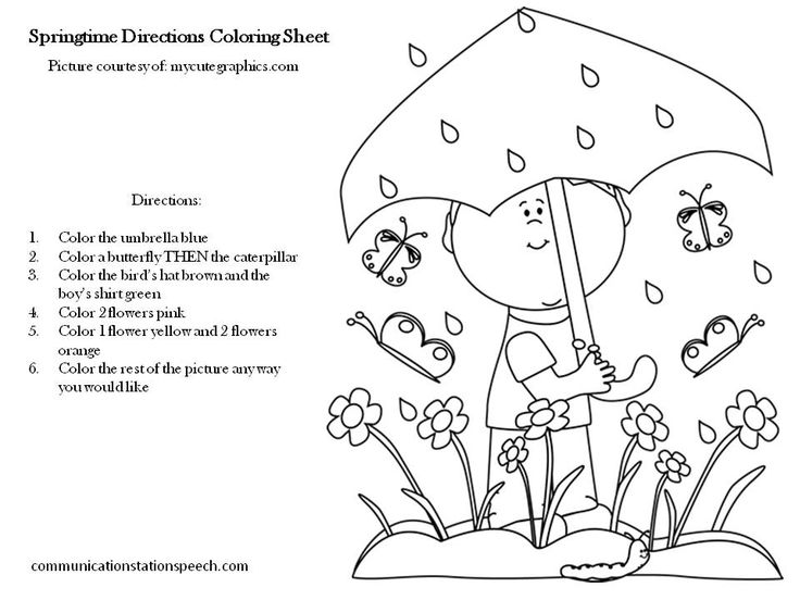 coloring worksheets with instructions read listen to the instructions and color the picture with instructions worksheets coloring