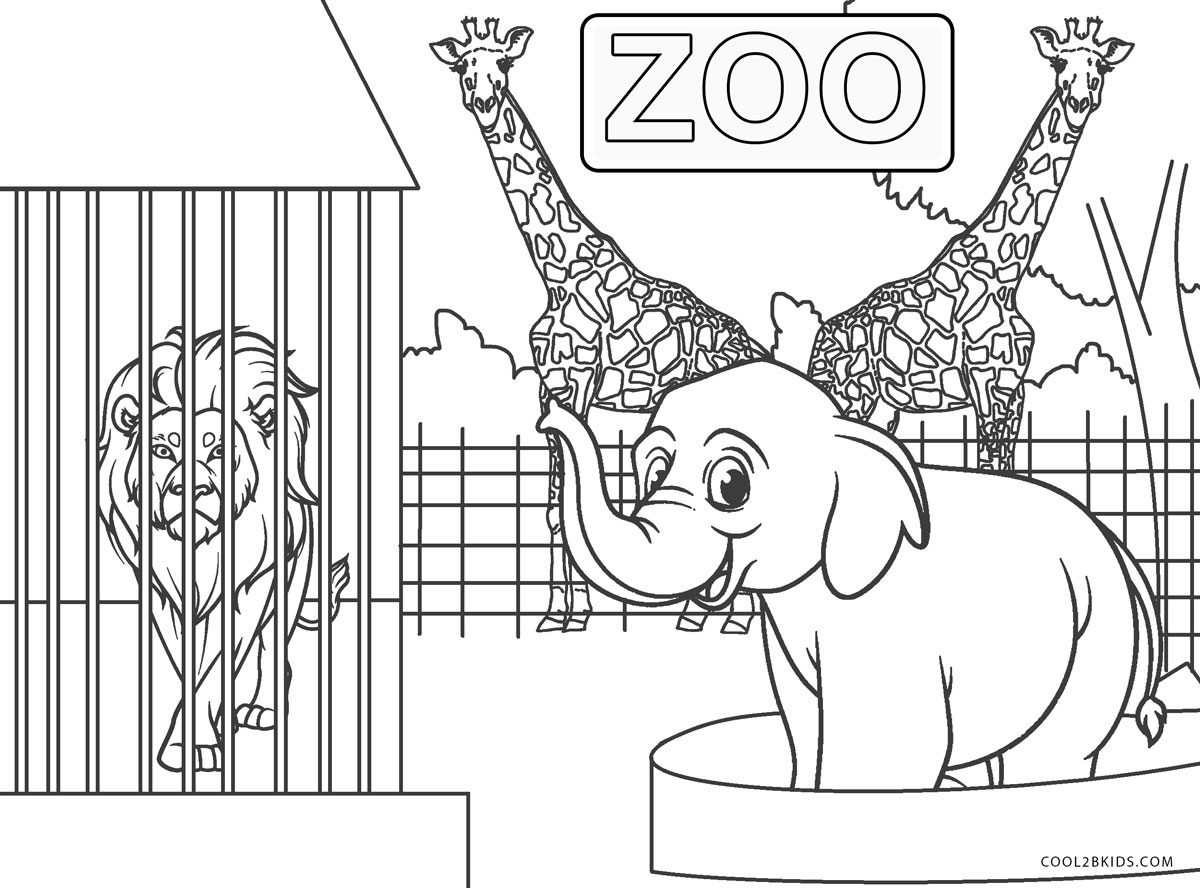 coloring zoo animals free printable zoo coloring pages for kids zoo animals coloring
