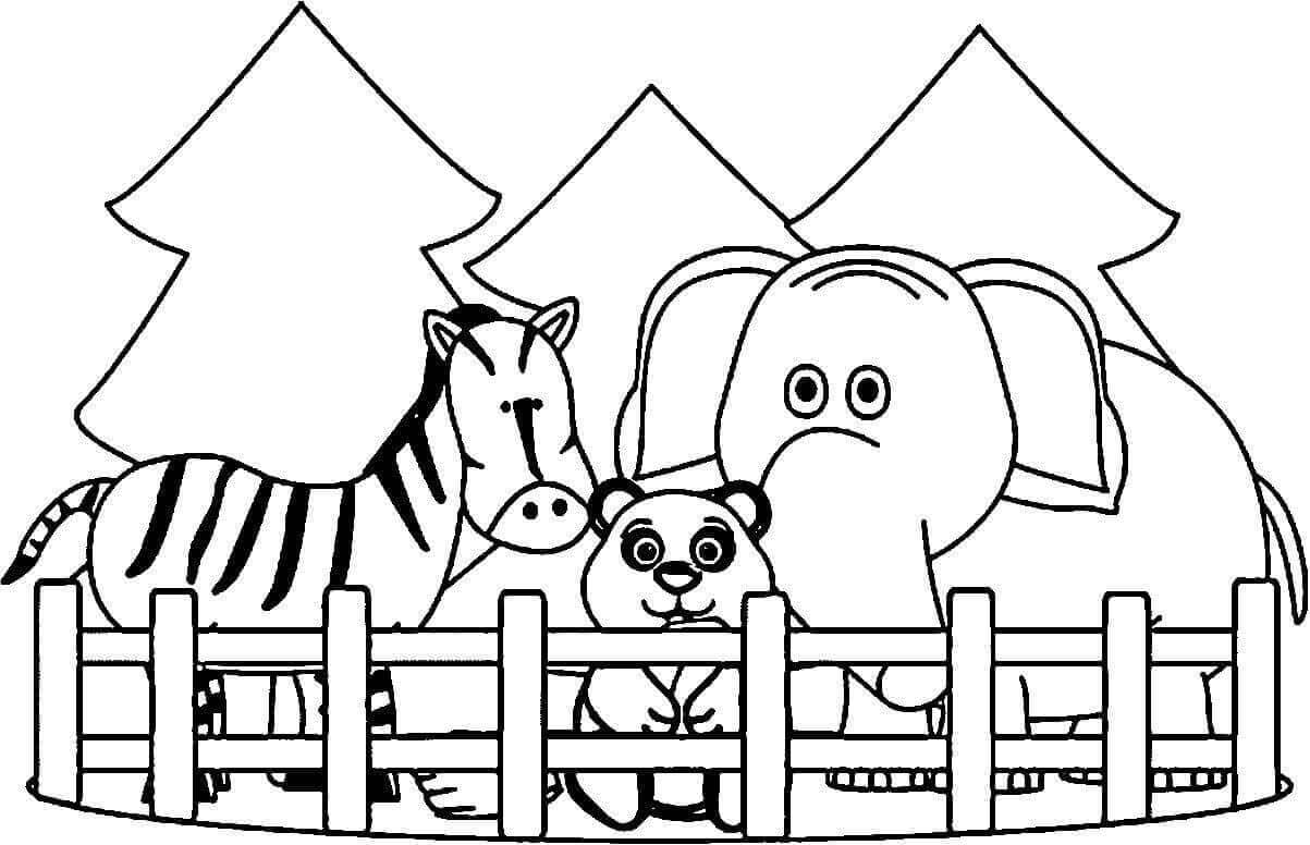 coloring zoo animals free printable zoo coloring pages for kids zoo animals coloring 1 1