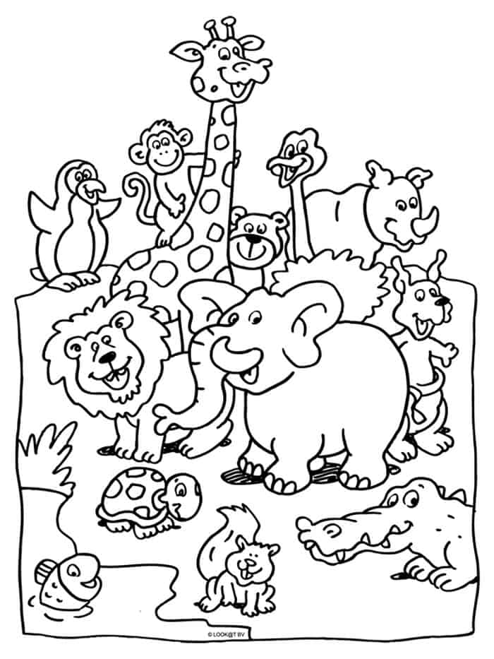 coloring zoo animals printable zoo coloring pages for kids coloring animals zoo