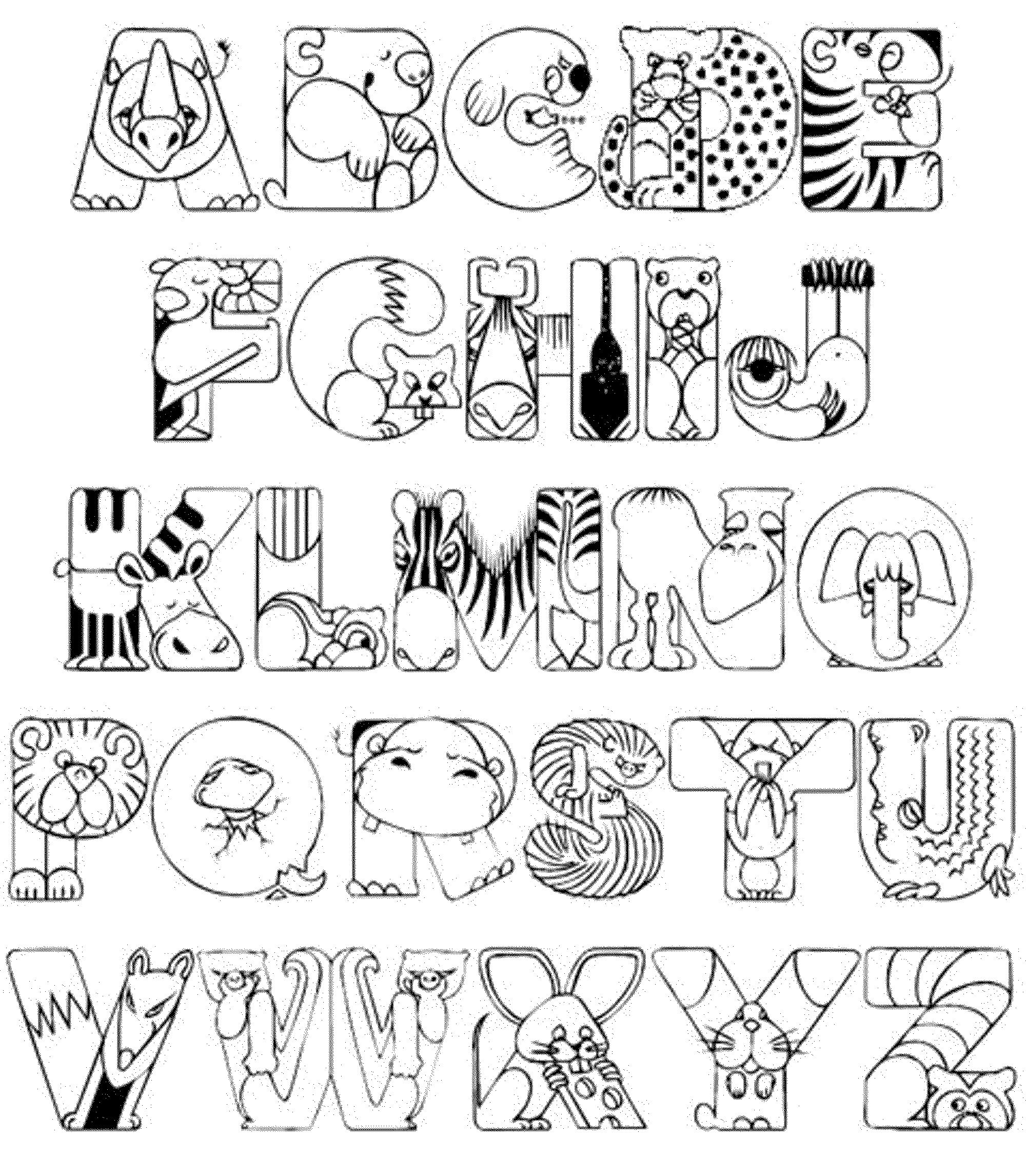 colouring letters a to z a z alphabet coloring pages download and print for free letters z to colouring a