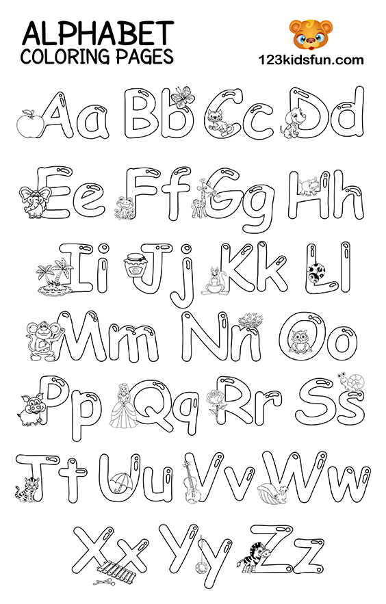 colouring letters a to z alphabet coloring pages a z for kids free printable z to a colouring letters
