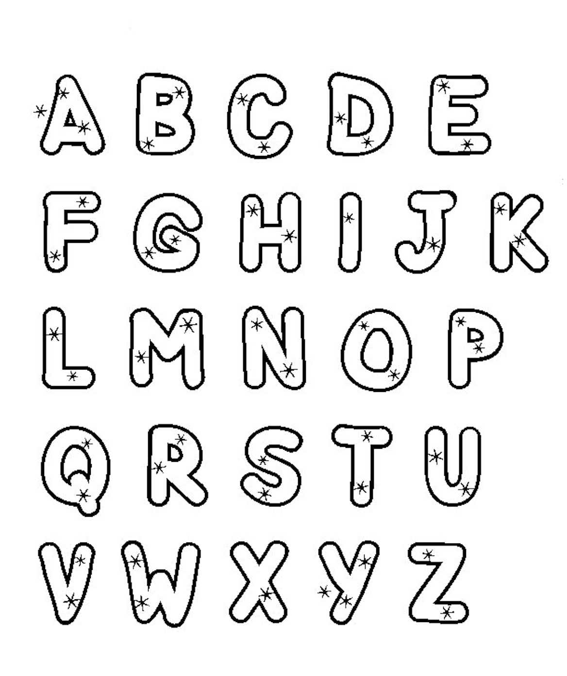 colouring letters a to z free free printable alphabet coloring pages a z download a colouring z letters to