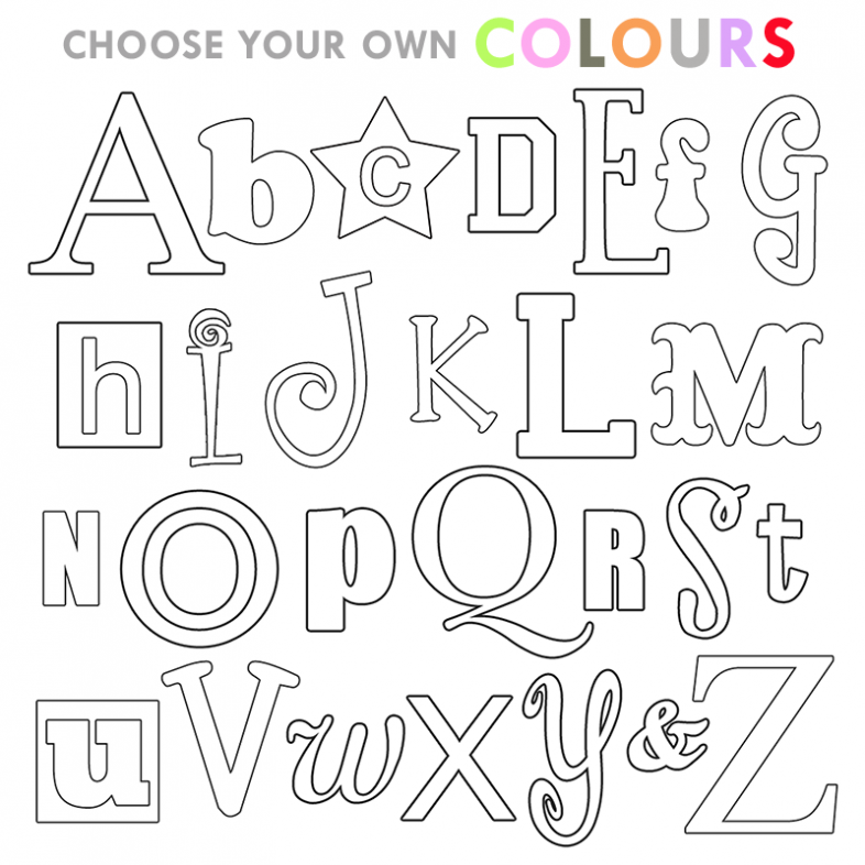 colouring letters a to z free free printable alphabet coloring pages a z download to z a letters colouring
