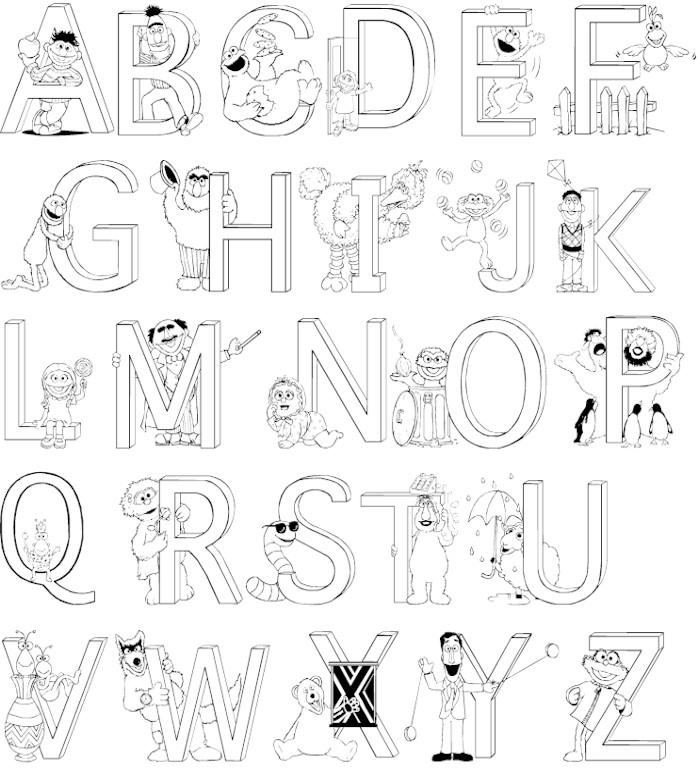 colouring letters a to z free printable alphabet coloring pages a z coloring home a z letters colouring to
