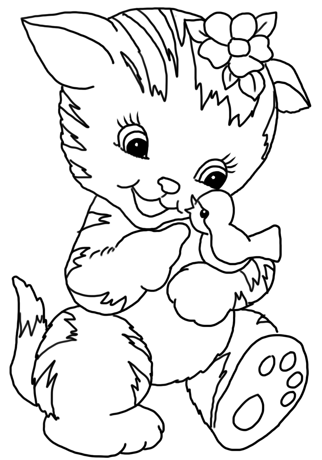 colouring pages cats springtime cat coloring page favecraftscom cats pages colouring