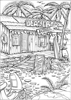 colouring pages of beach scene beach coloring pages beach scenes activities pages beach colouring of scene