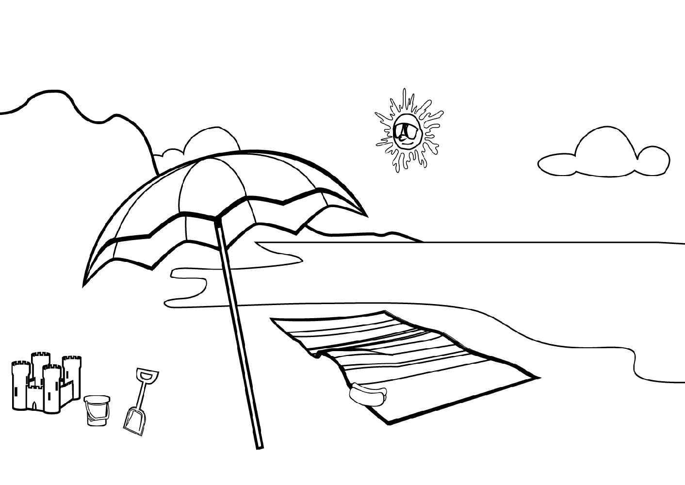 colouring pages of beach scene beach coloring pages beach scenes activities scene colouring of pages beach