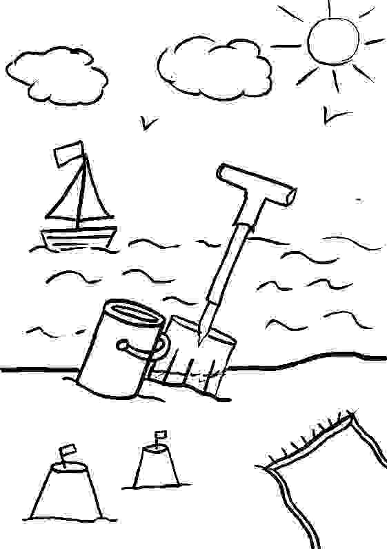 colouring pages of beach scene beach coloring pages free printable outline pictures scene pages colouring beach of