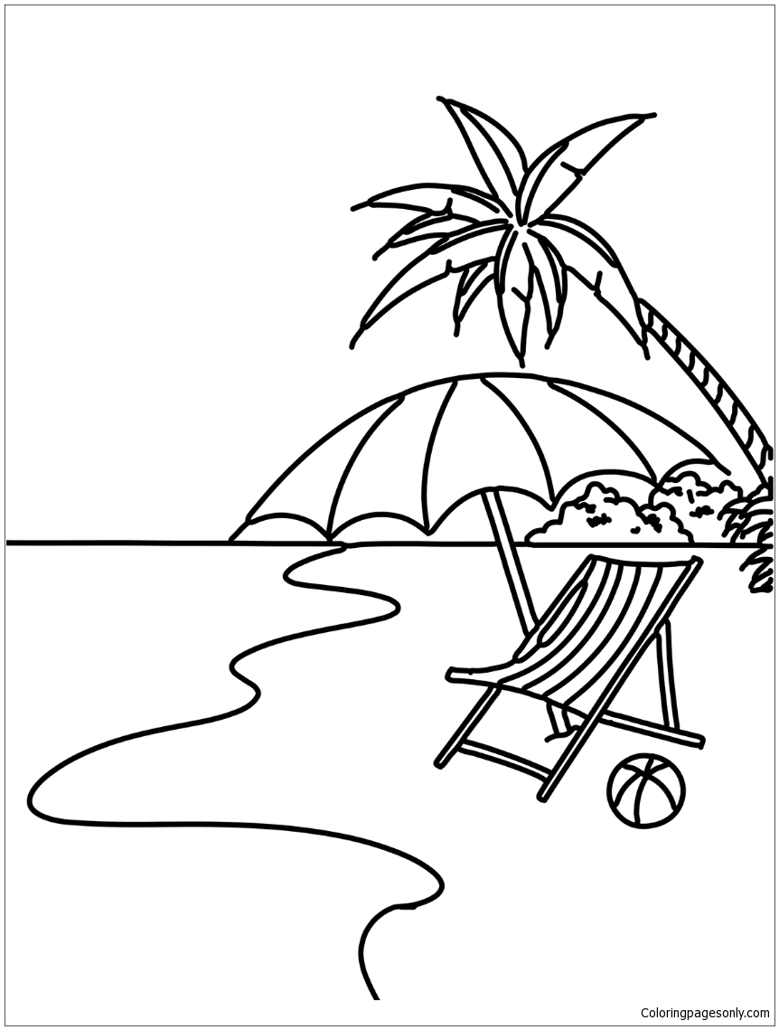 colouring pages of beach scene summer beach scene coloring page free coloring pages online beach scene pages of colouring