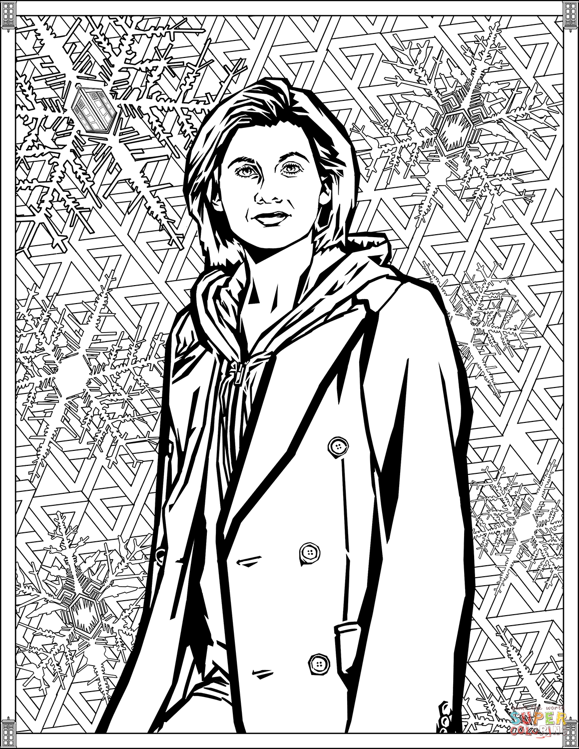 colouring pages of doctor thirteenth doctor coloring page free printable coloring of colouring doctor pages