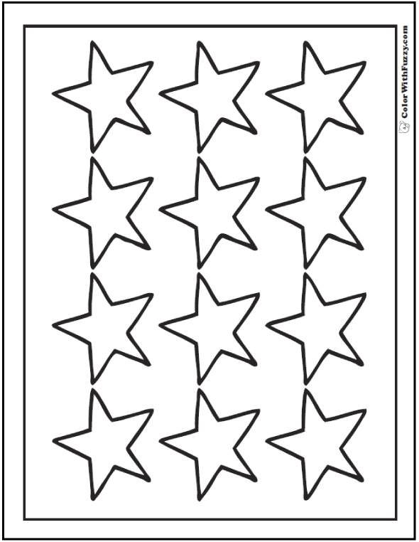 colouring pages of stars 60 star coloring pages customize and print pdf of colouring stars pages