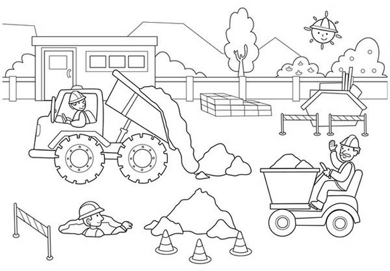 construction coloring page construction vehicles coloring pages download and print construction page coloring