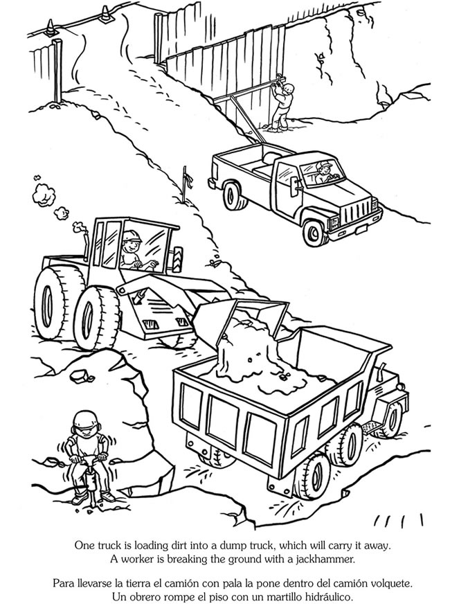 construction coloring page construction vehicles coloring pages download and print page coloring construction