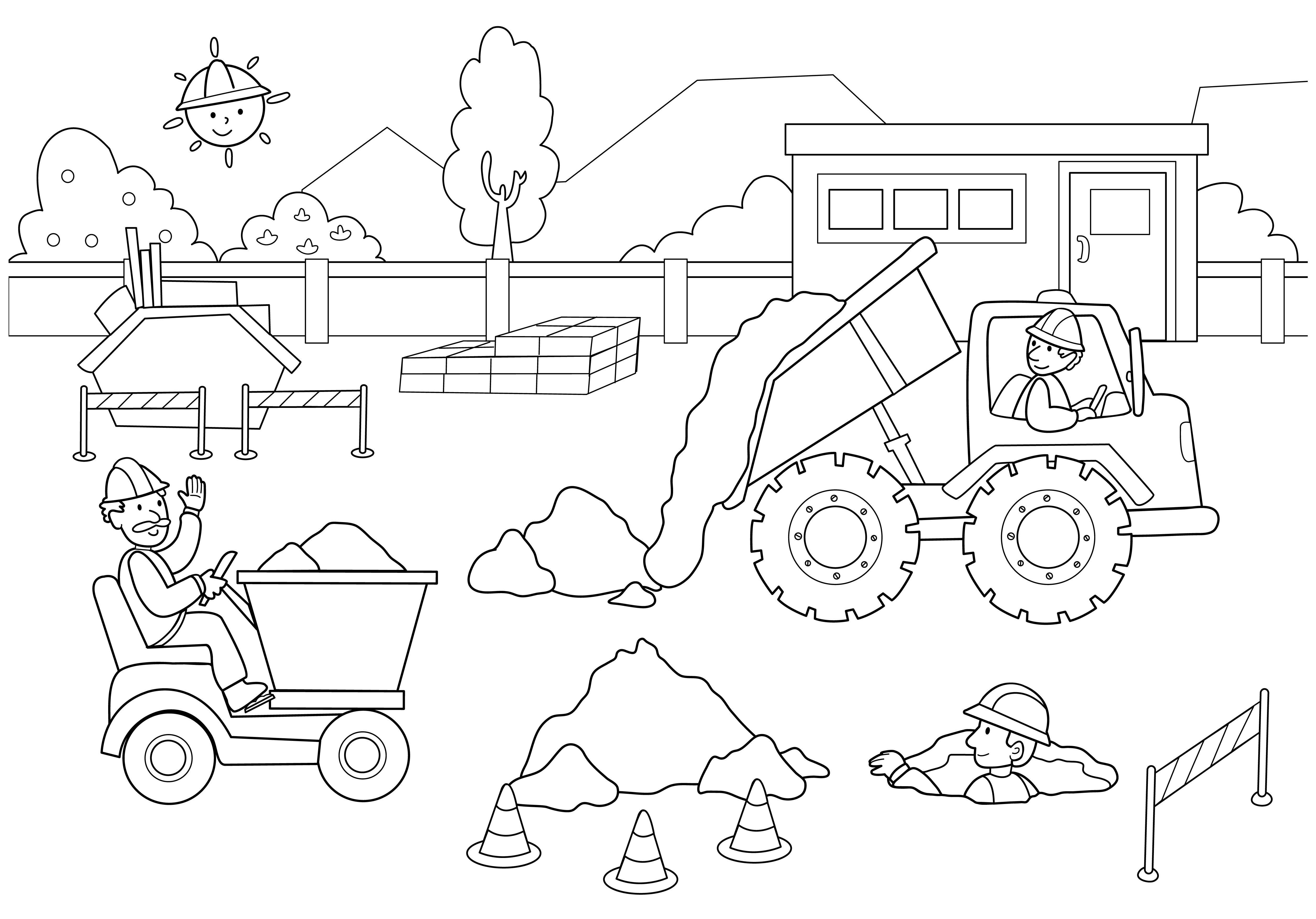 construction coloring page free coloring pages of construction site coloring pages page coloring construction