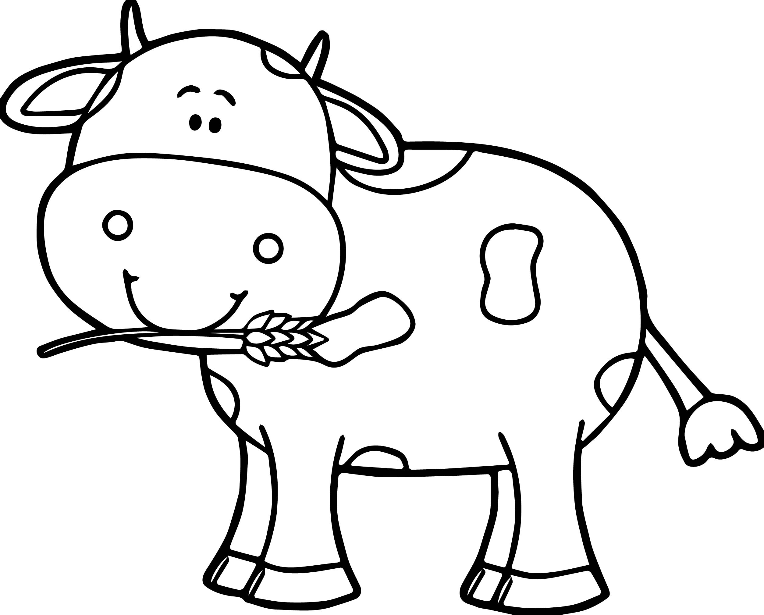 cow pictures to color colorable little cow free clip art color to cow pictures