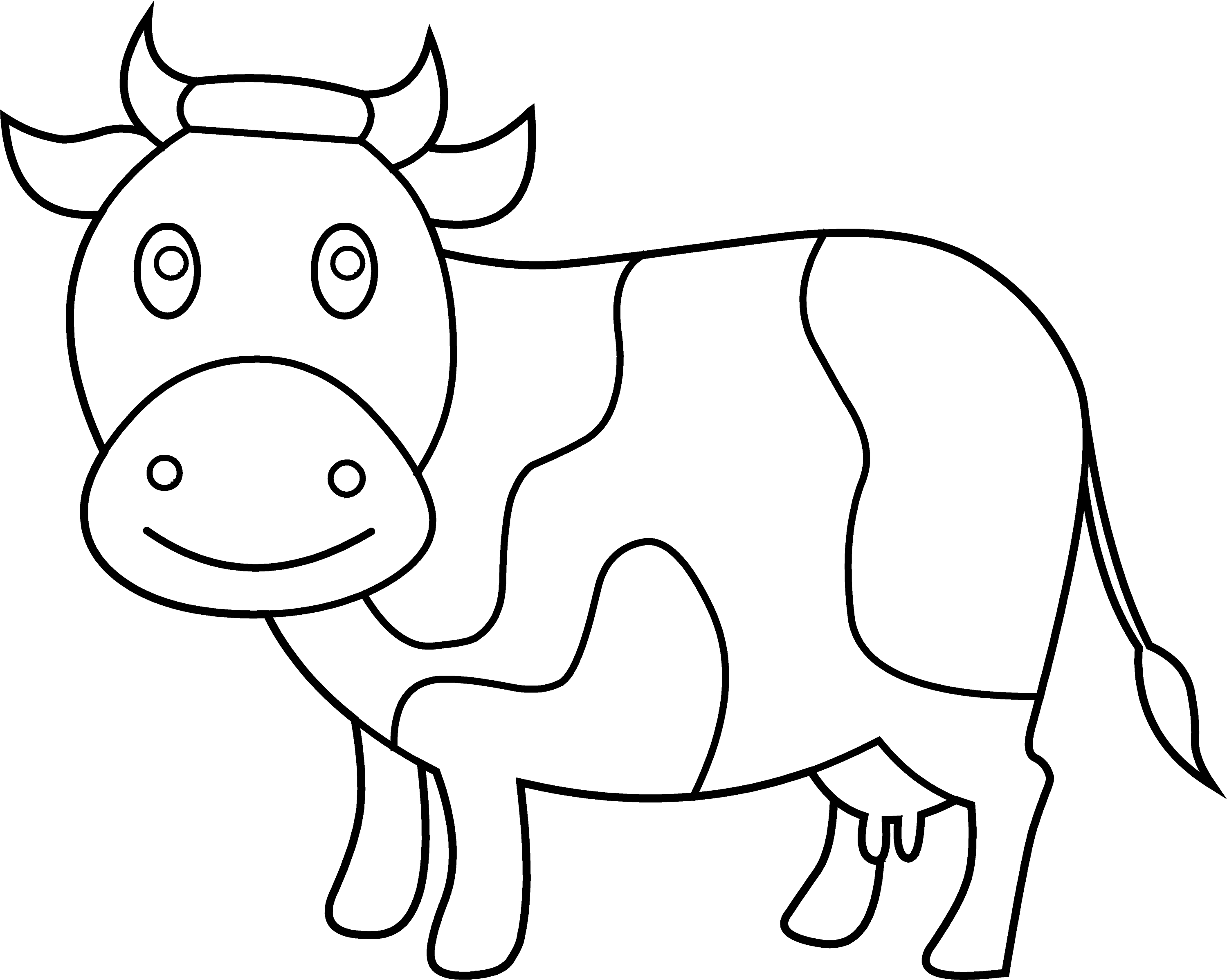 cow pictures to color cow coloring pages at getcoloringscom free printable cow to color pictures
