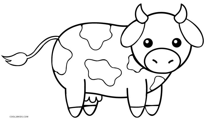 cow pictures to color cow drawing simple at getdrawings free download cow color pictures to
