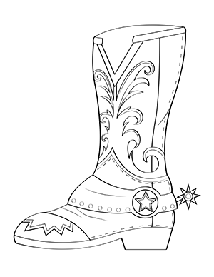 cowboy boots coloring pages pin on my coloring pages cowboy pages coloring boots