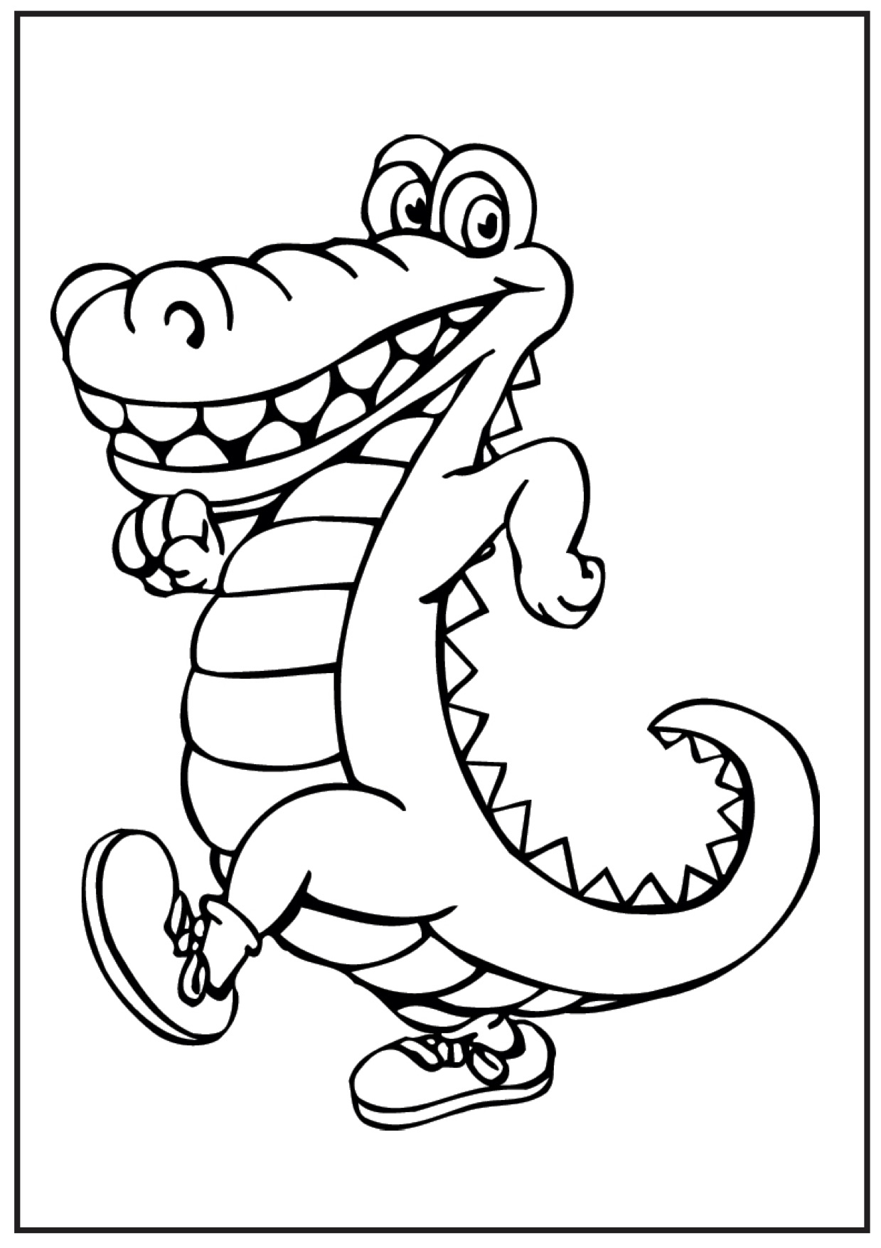crocodile pictures to color get this free picture of alligator coloring pages prmlr pictures color to crocodile