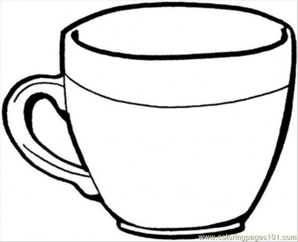 cup colouring pages cup coloring activity early childhood education pages cup colouring