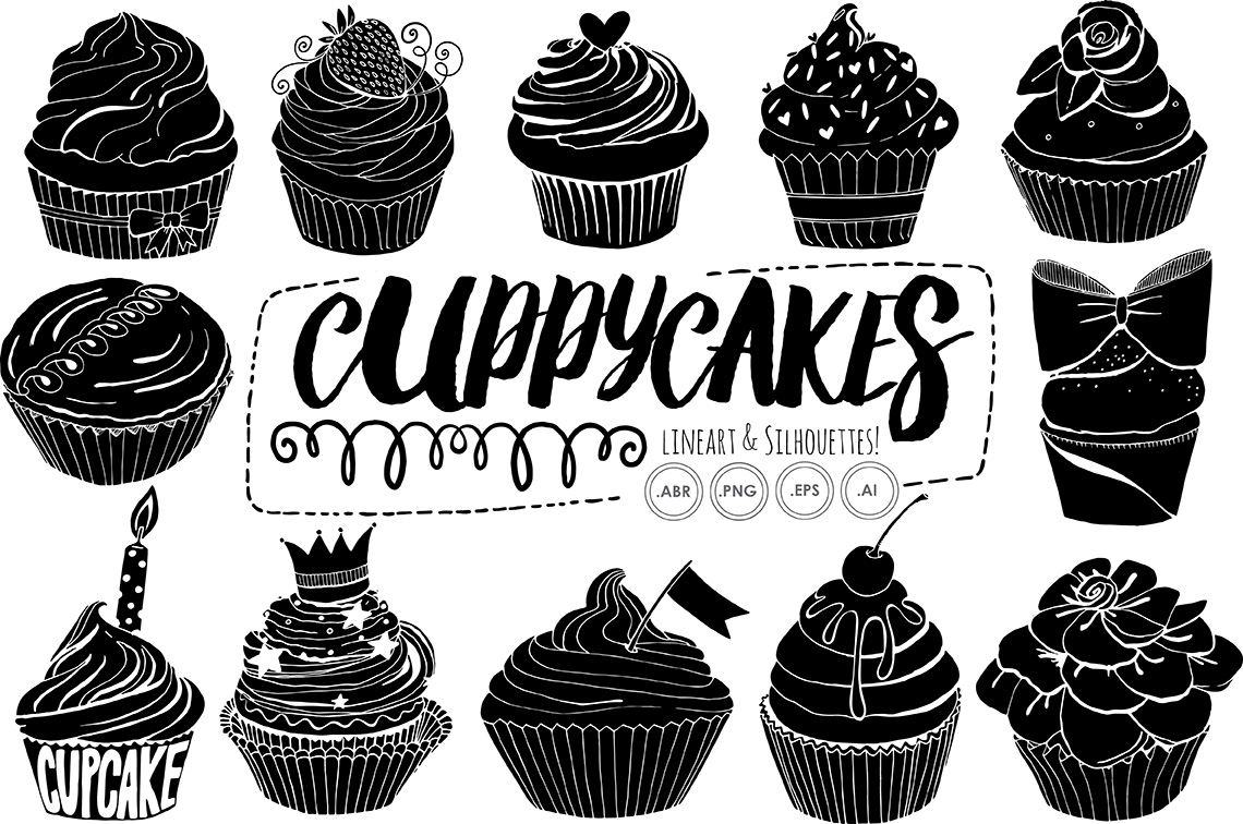 cupcake silhouette baking silhouette at getdrawings free download silhouette cupcake