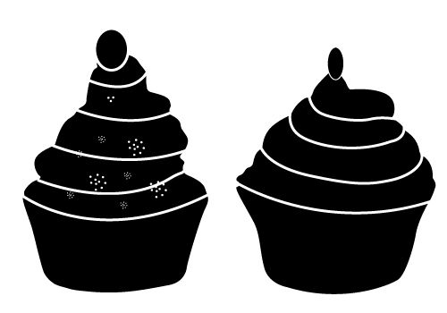 cupcake silhouette cupcake silhouette 7 coloring pages printable cupcake silhouette