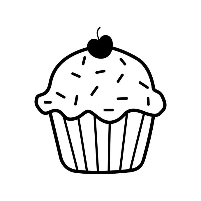 cupcake silhouette free vector graphic cupcake muffin silhouette black silhouette cupcake
