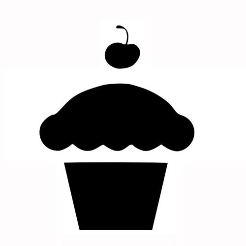 cupcake silhouette isolated cupcake silhouette icon stock vector cupcake silhouette