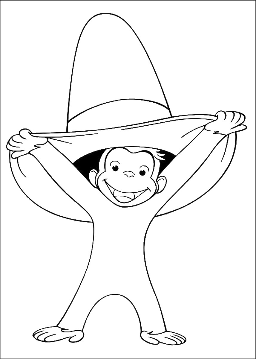 curious george coloring pages curious george coloring pages birthday printable curious george coloring pages