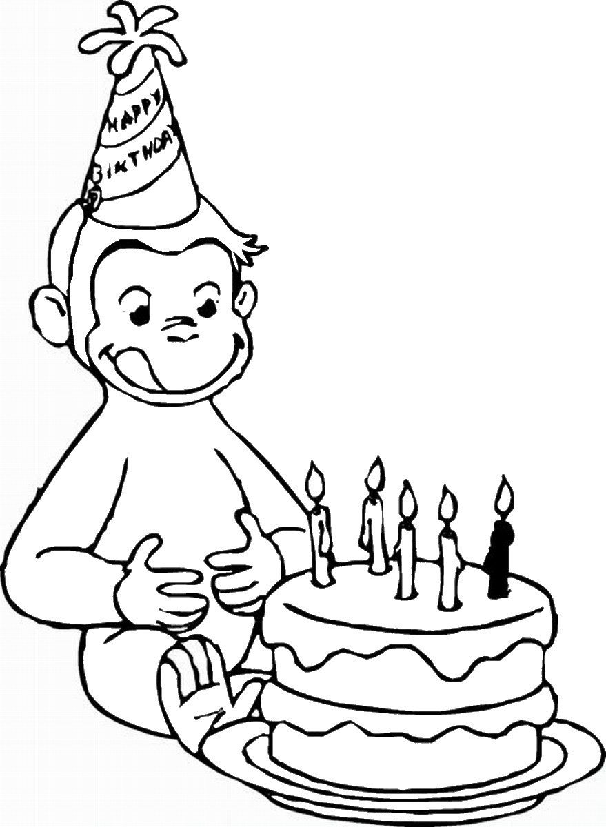 curious george coloring pages curious george coloring pages birthday printable george coloring curious pages