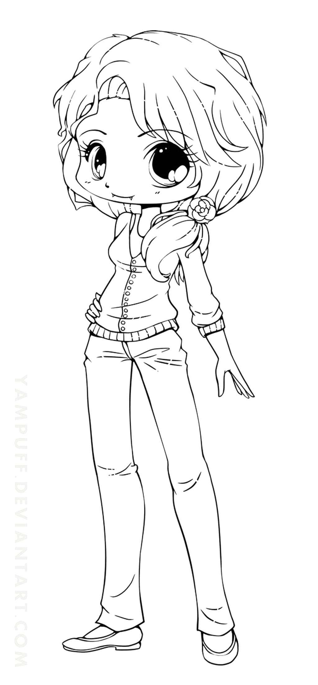 cute chibi girl coloring pages 28 collection of kawaii wolf girl coloring pages high cute chibi coloring pages girl