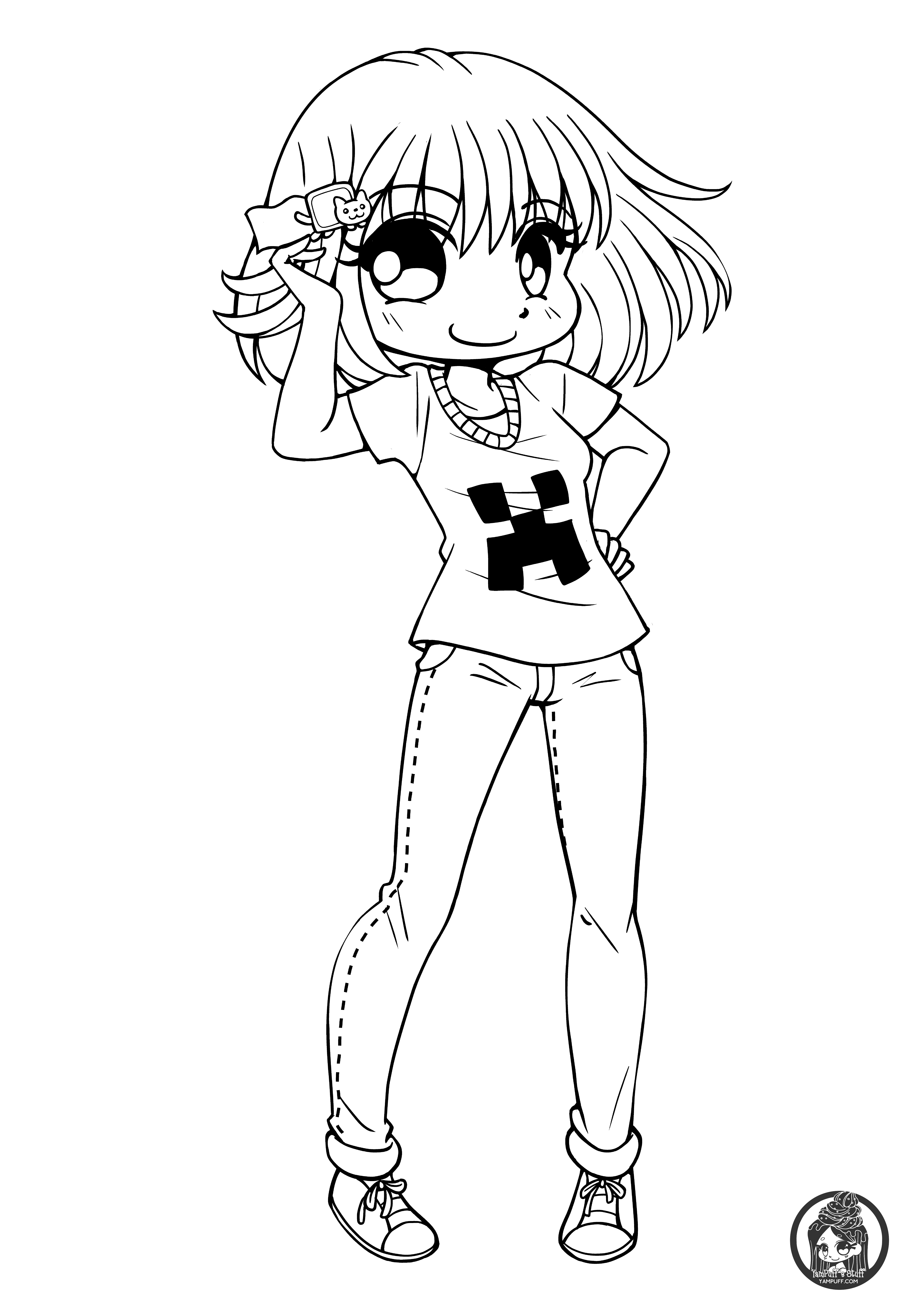 cute chibi girl coloring pages anime chibi cute girl coloring page wecoloringpagecom coloring chibi girl cute pages