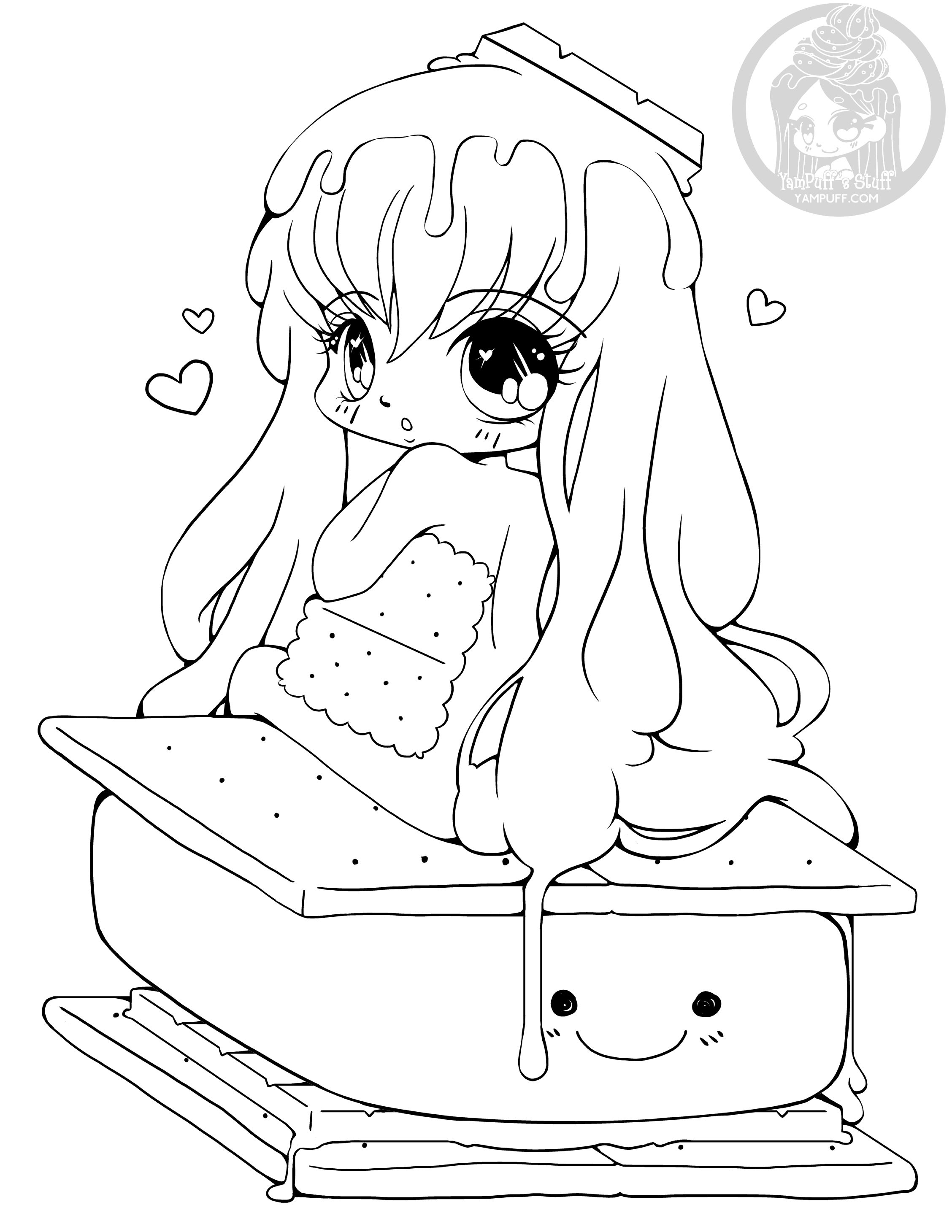 cute chibi girl coloring pages chibis coloring pages imagui cute chibi coloring girl pages