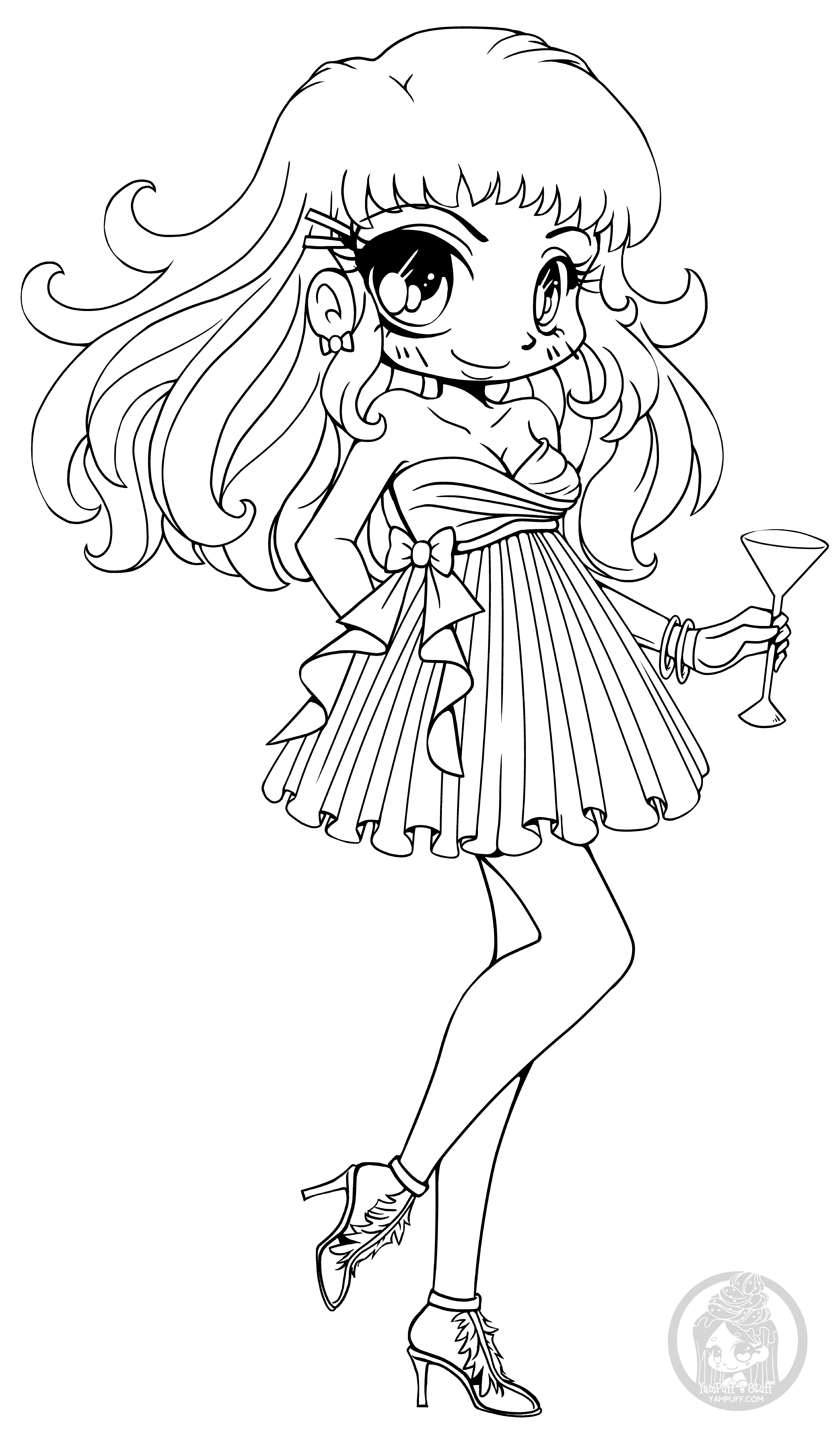 cute chibi girl coloring pages chibis free chibi coloring pages yampuff39s stuff girl pages chibi cute coloring