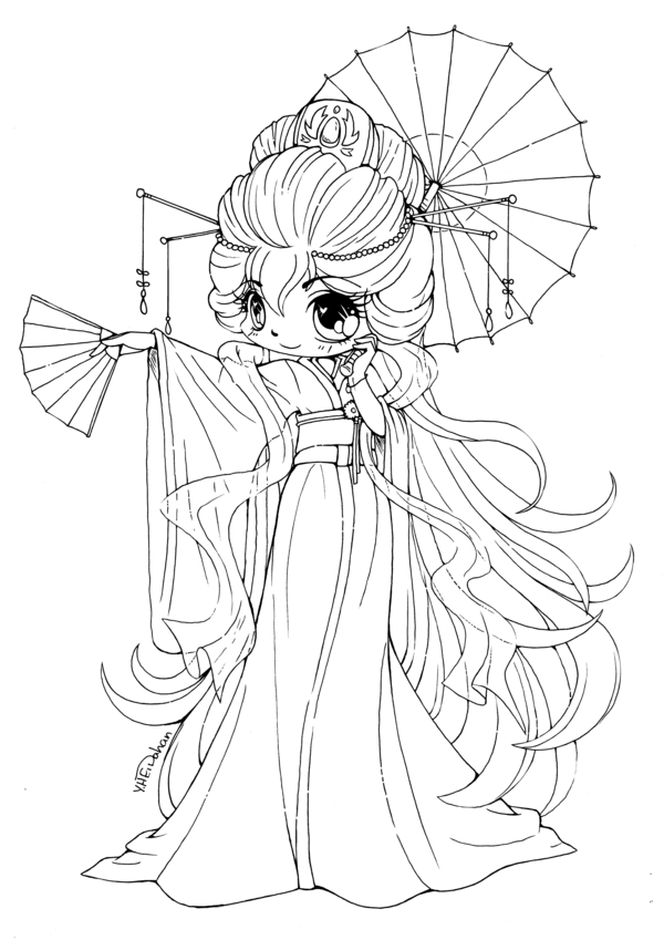 cute chibi girl coloring pages chibis free chibi coloring pages yampuff39s stuff pages coloring chibi cute girl