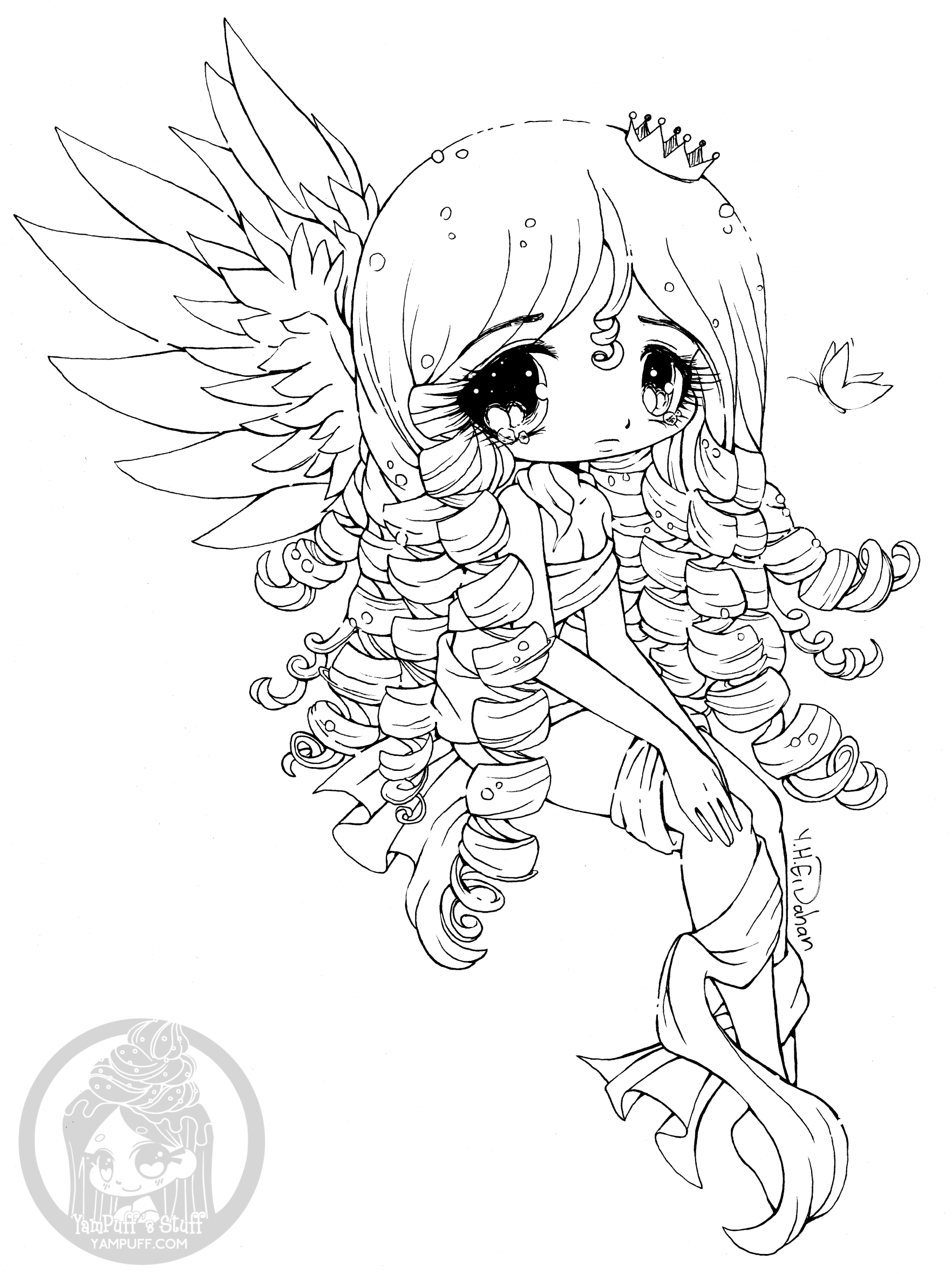 cute chibi girl coloring pages fanart free chibi colouring pages yampuff39s stuff girl chibi coloring pages cute