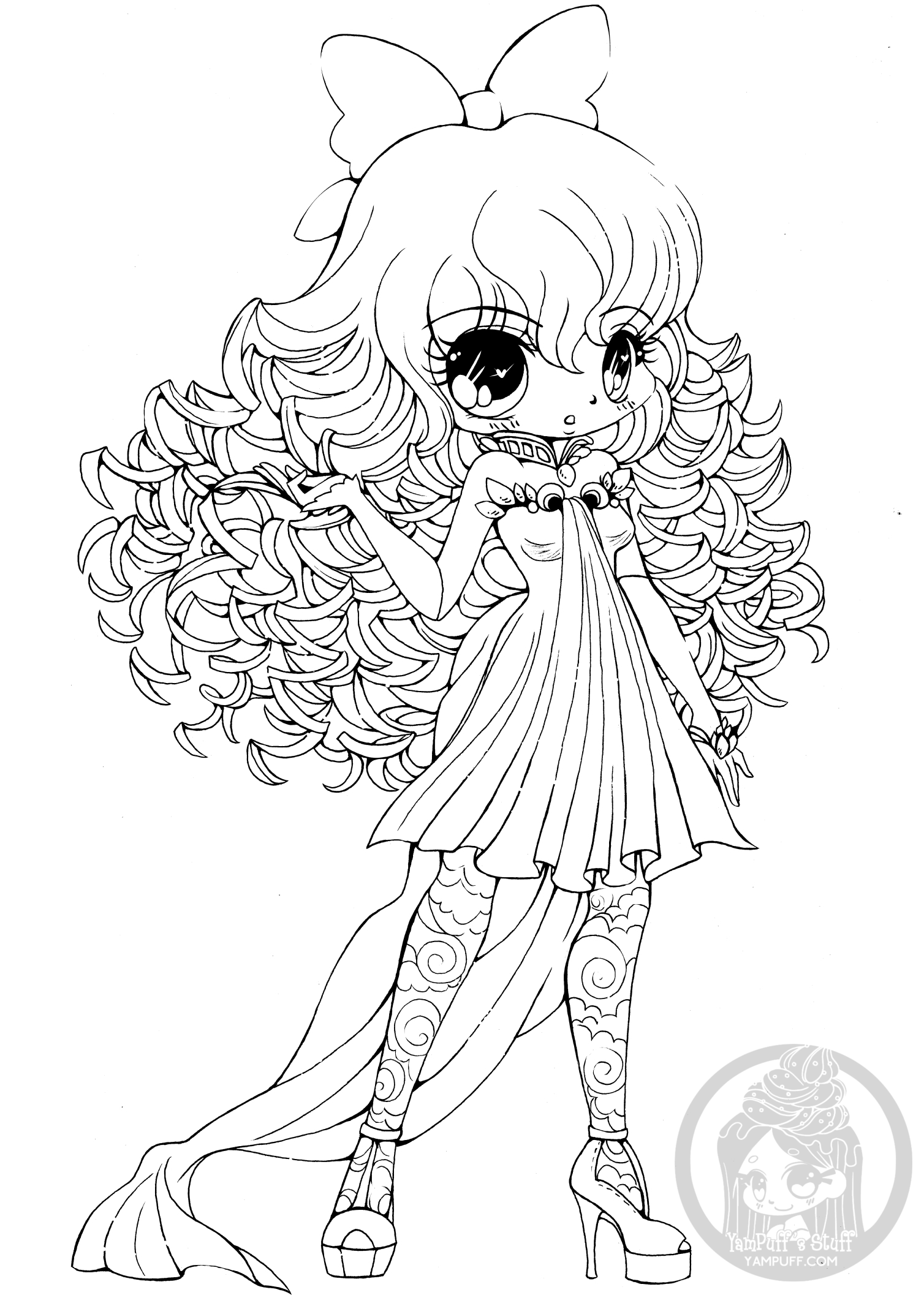 cute chibi girl coloring pages kawaii chibi girl coloring pages printable coloring cute girl chibi pages