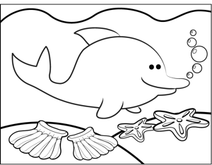 cute dolphin coloring pages baby dolphin coloring pages getcoloringpagescom cute coloring dolphin pages