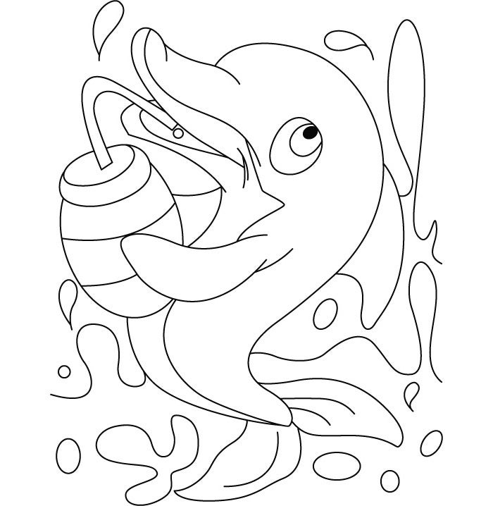 cute dolphin coloring pages dolphin template animal templates free premium templates dolphin cute coloring pages
